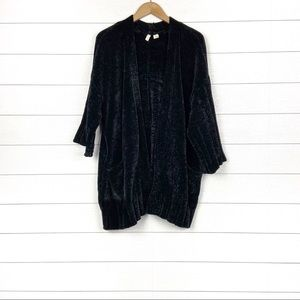 MOTH Chenille Oversized Chunky Cardigan Black